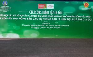 Chương trình tập huấn Các Hợp tác xã, Tổ hợp tác và trang trại Đông Nam Bộ và Đồng Bằng Sông Cửu Long về Kết nối tiêu thụ nông sản vào hệ thống bán lẻ hiện đại của BigC & Go! Việt Nam