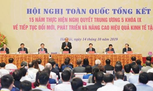 Thủ tướng Nguyễn Xuân Phúc chủ trì Hội nghị tổng kết 15 năm thực Nghị quyết Trung ương 5 về kinh tế tập thể