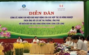 Diễn đàn Củng cố, nâng cao hiệu quả hoạt động của các Hợp tác xã nông nghiệp thích ứng với...