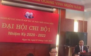 Đảng bộ Cục Kinh tế hợp tác và Phát triển nông thôn tổ chức đại hội chi bộ nhiệm kỳ 2020-2022