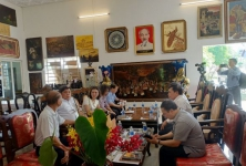 Thứ trưởng Trần Thanh Nam cùng Đoàn công tác Bộ Nông nghiệp và Phát triển nông thôn khảo sát và làm việc về phát triển ngành nghề nông thôn, làng nghề truyền thống trên địa bàn tỉnh Bình Dương.