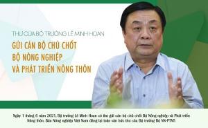 Thư ngỏ của Bộ trưởng Lê Minh Hoan gửi cán bộ chủ chốt Bộ trưởng Bộ Nông nghiệp và PTNT